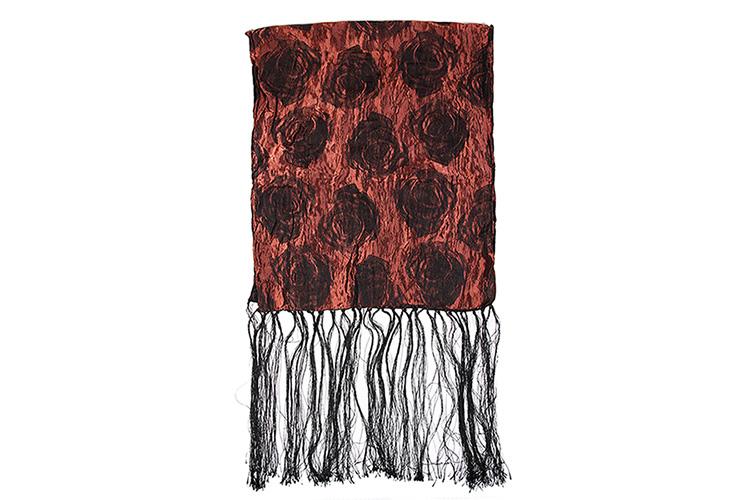 长细丝巾的系法图解