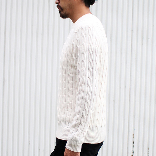 男士毛纺电缆花纹针织