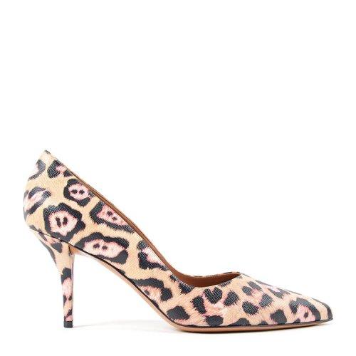 时尚女士小牛皮高跟鞋,图案印花,细跟设计,款式大方,时尚新潮