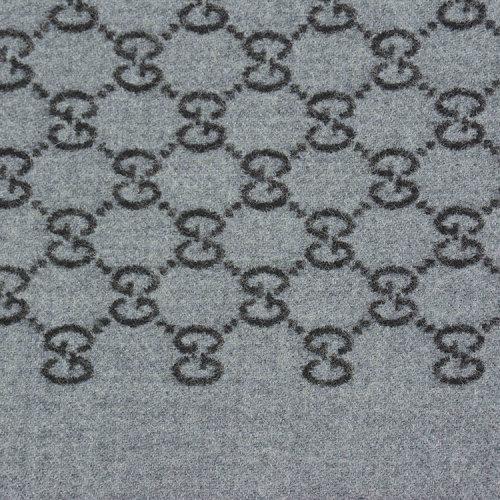 gucci/古驰 羊毛 经典logo花纹 围巾 br