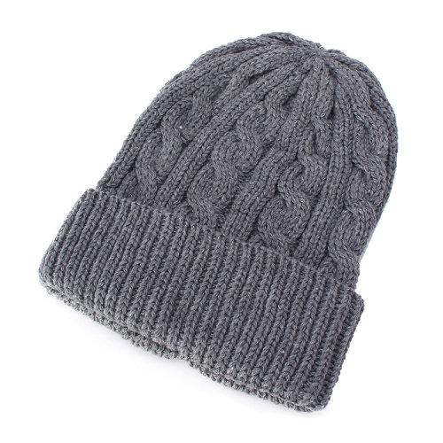 男士腈纶电缆花纹针织帽子12607303