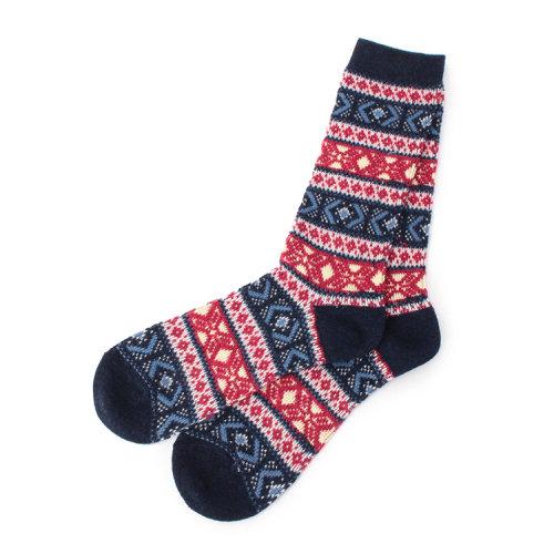 tk 2015aw 男士羊毛混纺花纹袜17007006