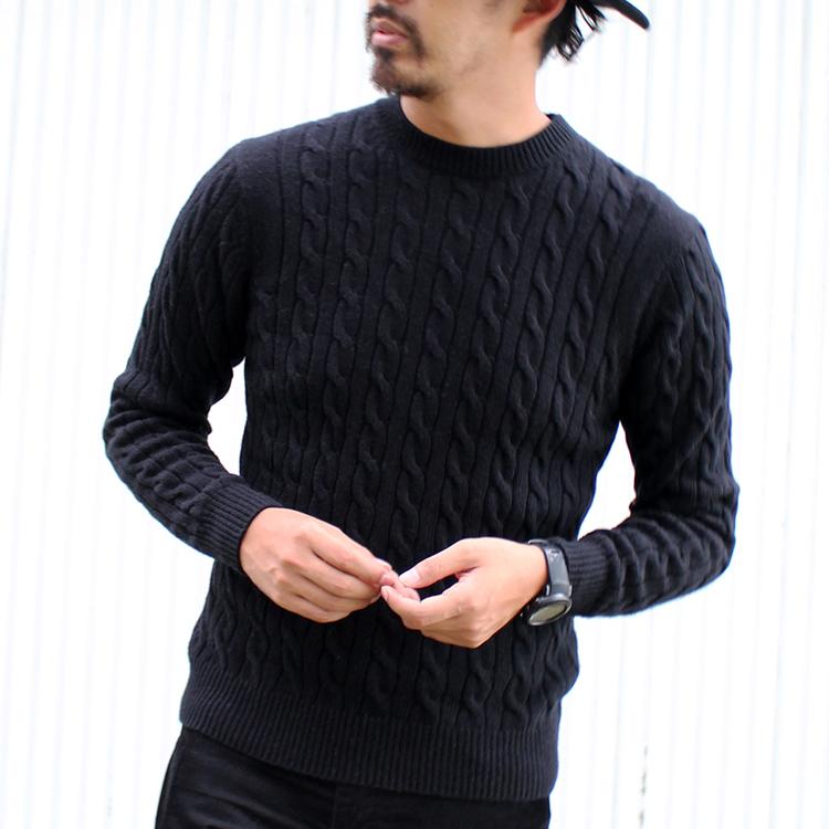 男士毛纺电缆花纹针织套头毛衣17017108