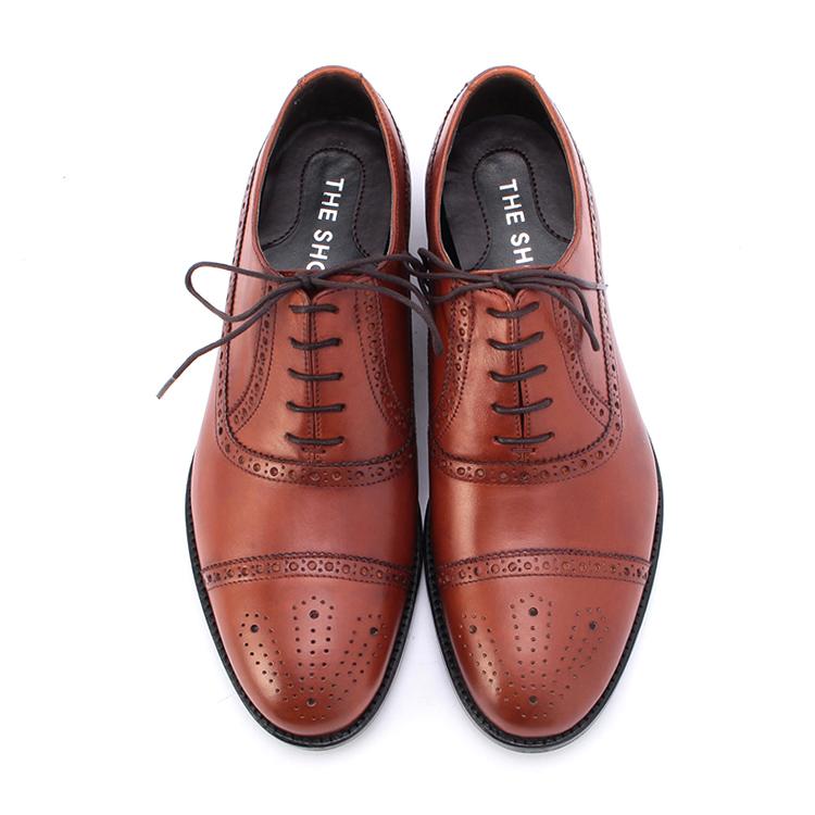 男士牛皮雕花系带皮鞋61607663