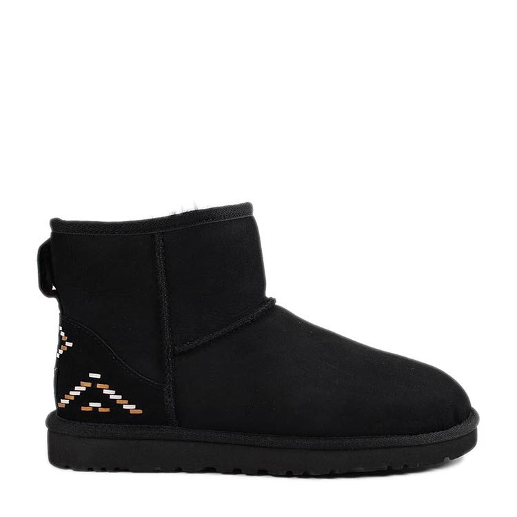 ugg/ugg 女士 真皮 条纹装饰 雪地靴 sp