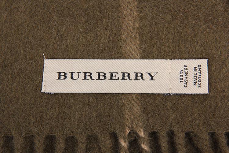 burberry(博柏利) 棕绿/灰/黑格子羊绒围巾