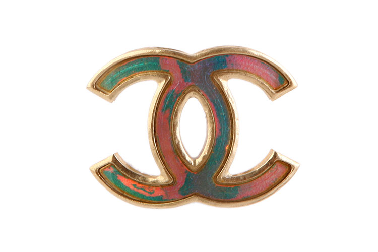 CHANEL 香奈儿 珠光双C logo胸针