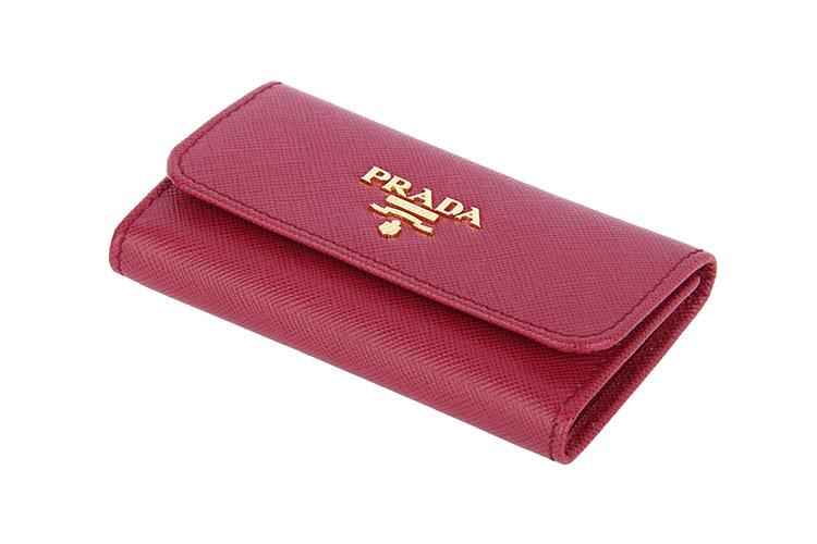 prada(普拉达) 玫红色钥匙包