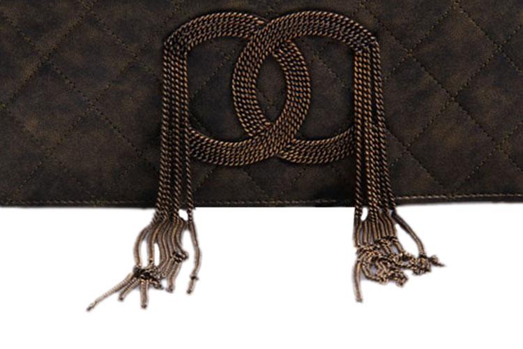 chanel(香奈儿) 复古金属色走秀款手包