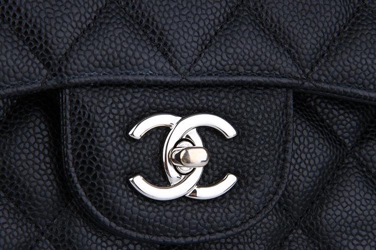 chanel(香奈儿) 黑色荔枝皮单肩包