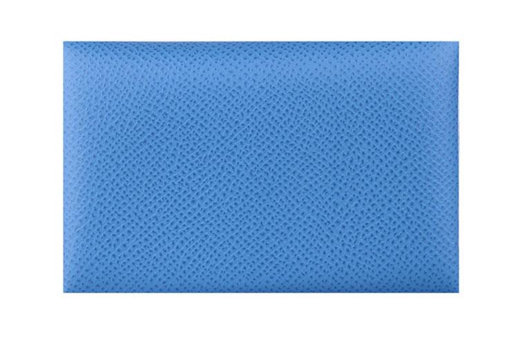 hermes(爱马仕) 浅蓝色皮质卡包