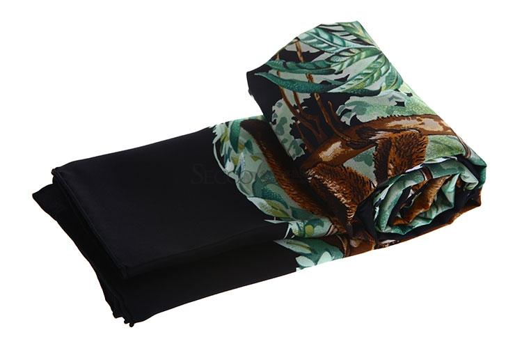 丝巾】hermes(爱马仕)黑色边框动物