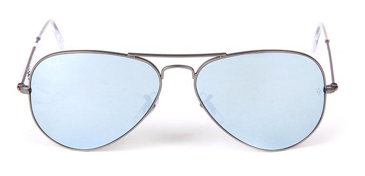 【ray-ban雷朋 眼镜】ray-ban(雷朋) 银色边框蓝色镜