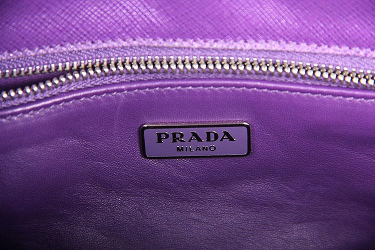 prada(普拉达) 紫色皮质单肩包