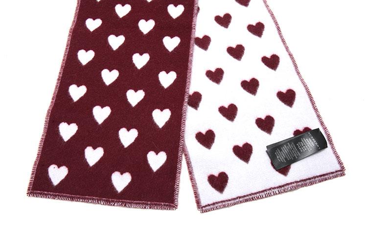 心形图案围巾织法图解