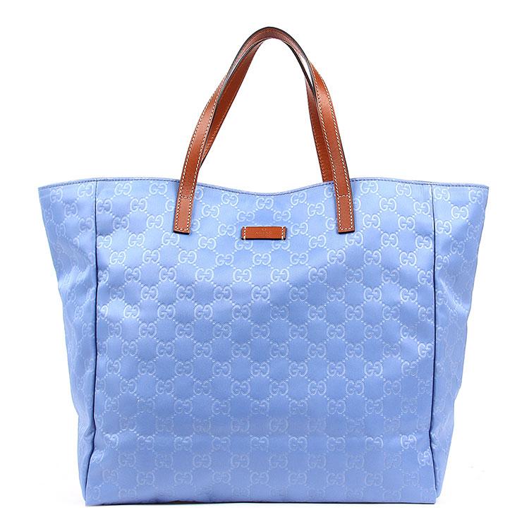 gucci(古驰) 蓝色帆布手提包