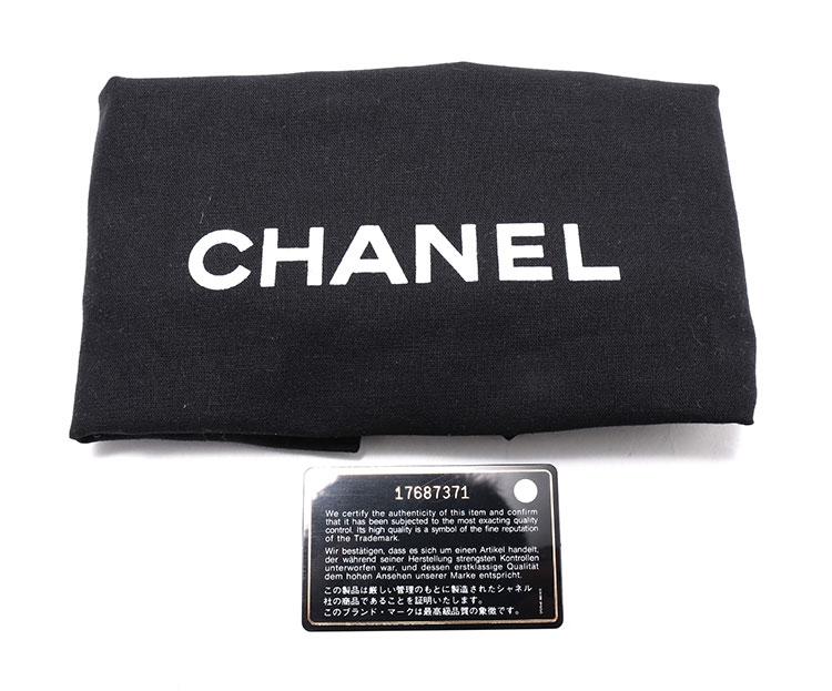 chanel(香奈儿) 深灰色皮质银链cf单肩包