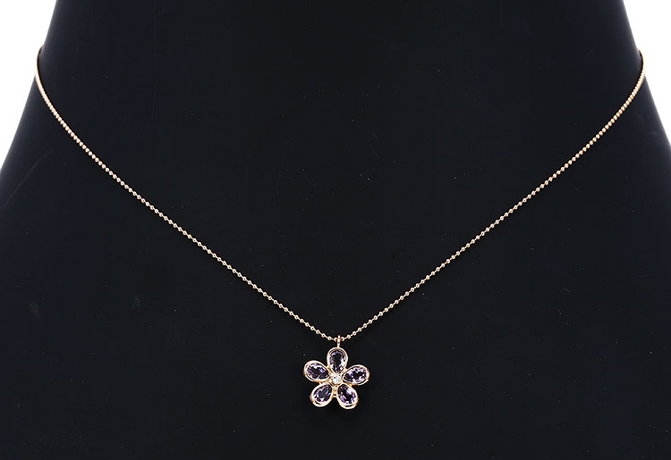 tiffany & co.(蒂芙尼) 18k玫瑰金紫水晶项链图片