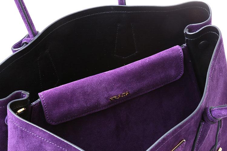 bag小号紫色翻毛皮两用包