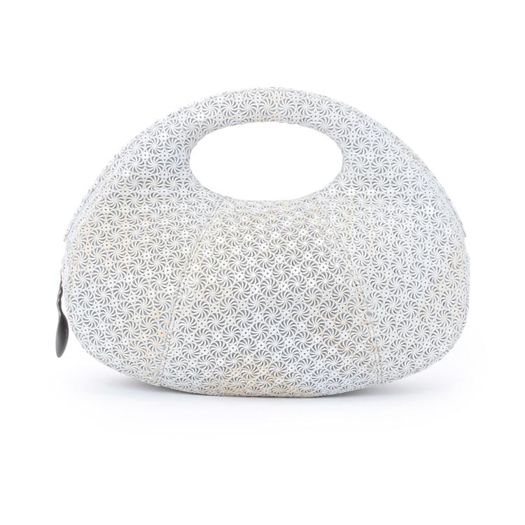 hayashi girasole女士牛皮压花纹羊角包造型手包709-11213 米白色