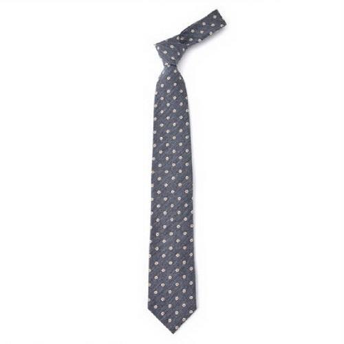 韩国男士灰色带花图案领带