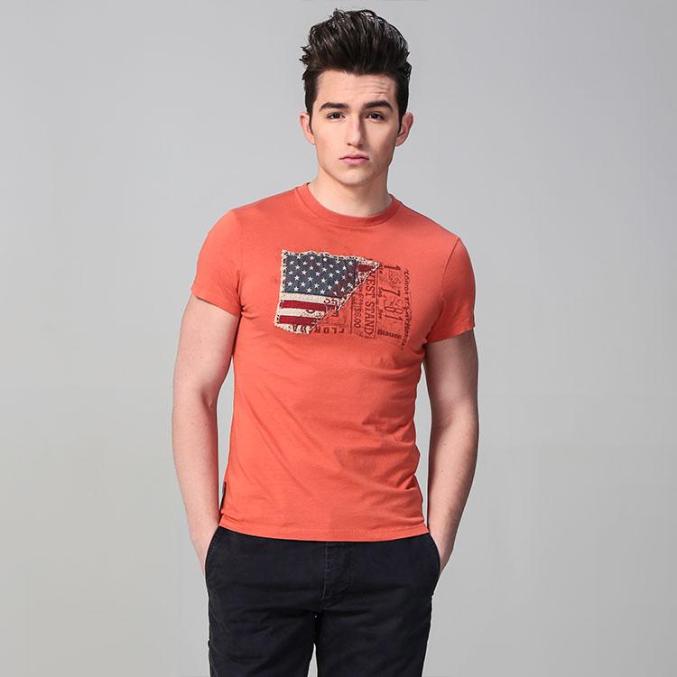 男生手绘t恤衫简单图案