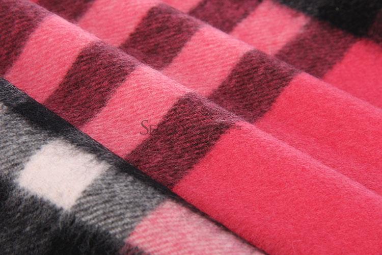 burberry(博柏利) 粉红色格子羊绒围巾