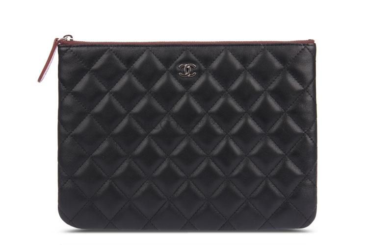 chanel(香奈儿) 黑色皮质手包