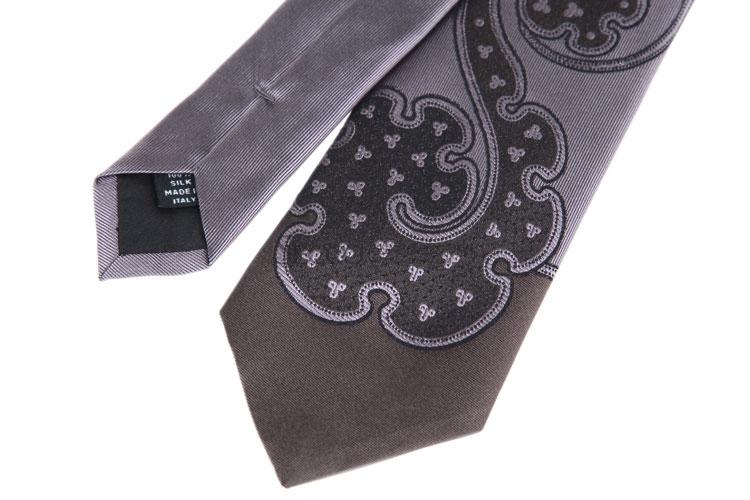 prada(普拉达) 紫色竖条纹海马图案领带
