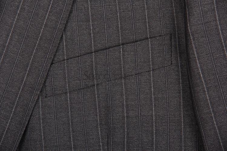 zegna(杰尼亚) 深灰色竖条纹西装外套54
