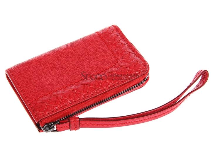 红色皮质小零钱袋