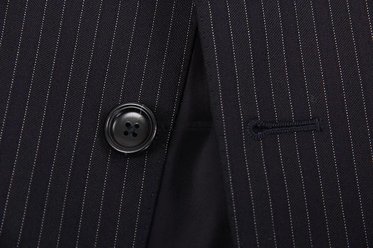 zegna(杰尼亚) 黑色竖条纹西服套装48