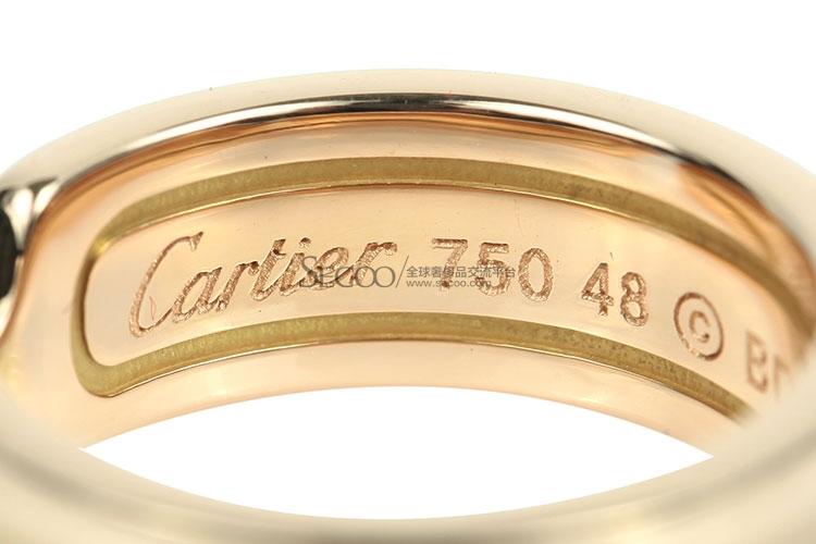 打折cartier(卡地亚) 18k玫瑰金窄版双c戒指48#_ cartier(卡地亚) 18k图片
