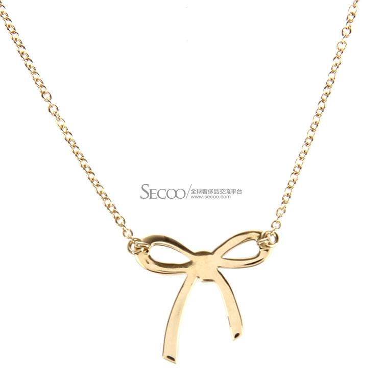 Tiffany Co. 蒂芙尼 18K黄金蝴蝶结款项链