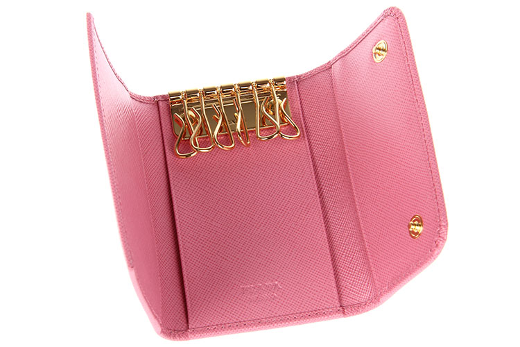 prada(普拉达) 粉色皮质钥匙包