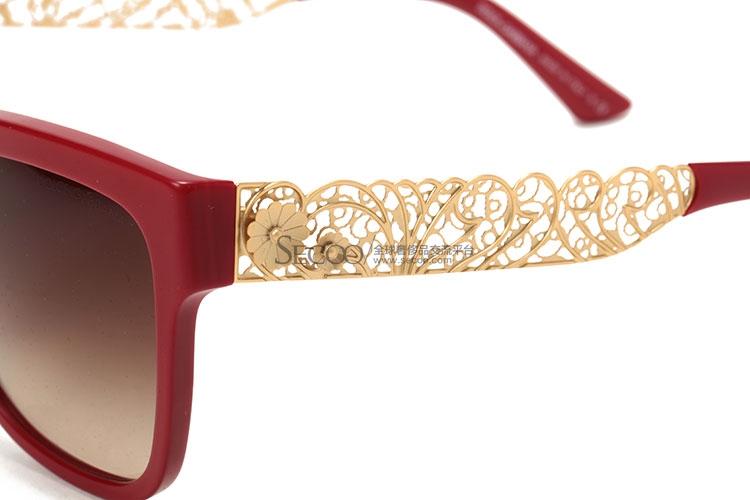 红色边框茶色太阳镜