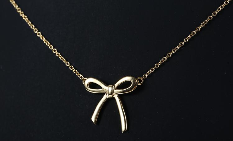 Tiffany Co. 蒂芙尼 18K黄金蝴蝶结项链