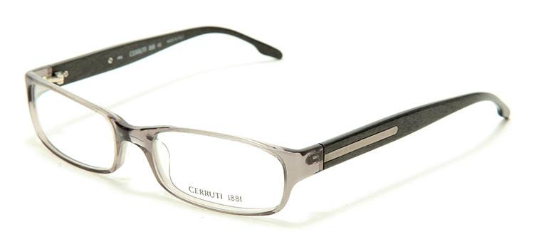 黑茶色透明边框光学眼镜