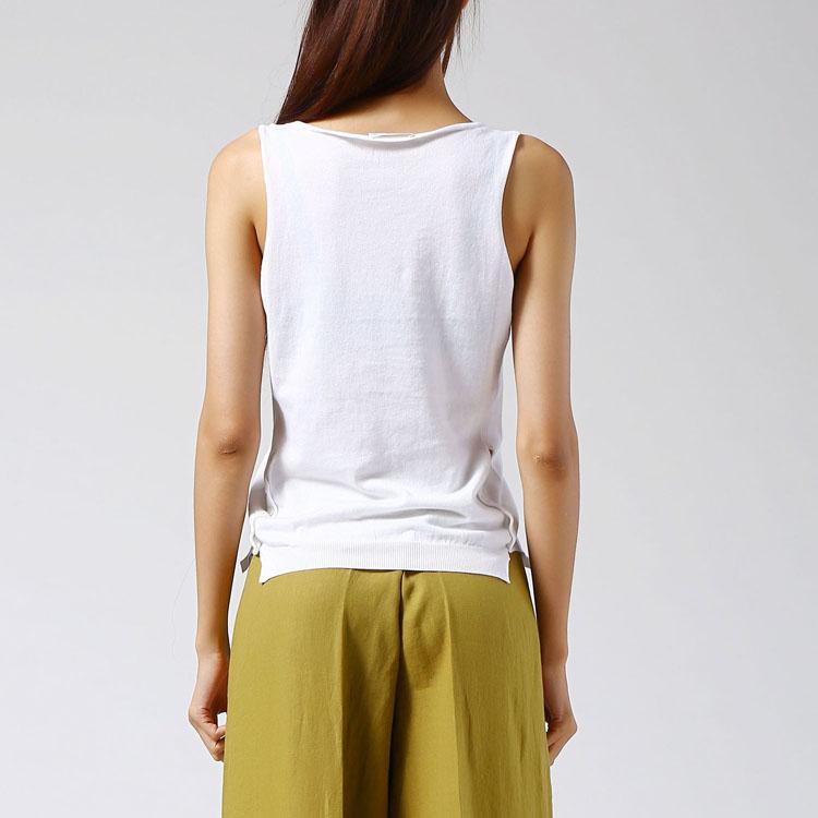 无��il�+i�k�_il parco(意派客)stefano mortari女装白色无袖针织衫y09370.