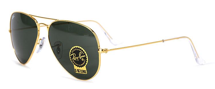 黑色镜片金色边框太阳镜