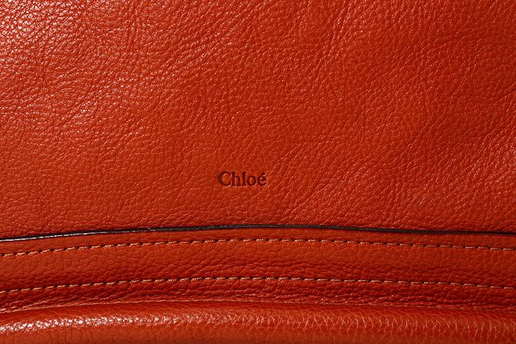 chloe(克洛伊) #砖红色皮质手提两用包