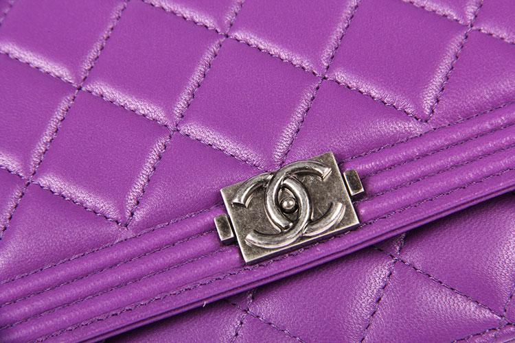 chanel(香奈儿) 紫色皮质斜挎包 boy woc