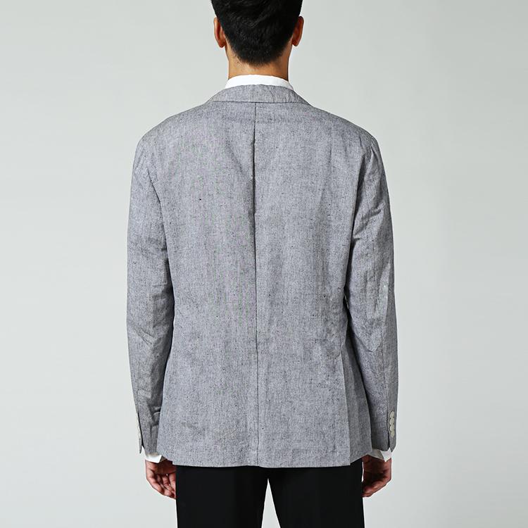 hugo boss烟灰色亚麻男士西服单衣外套