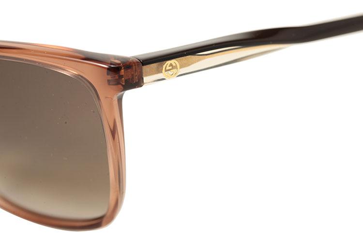 gucci(古驰) 枣泥色透明边框太阳镜