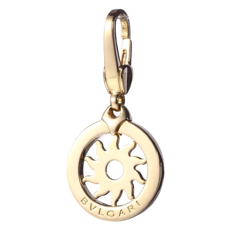 宝格丽18k黄金圆形吊坠挂件简洁淡雅,清新自然之感让你爱不释手,简单