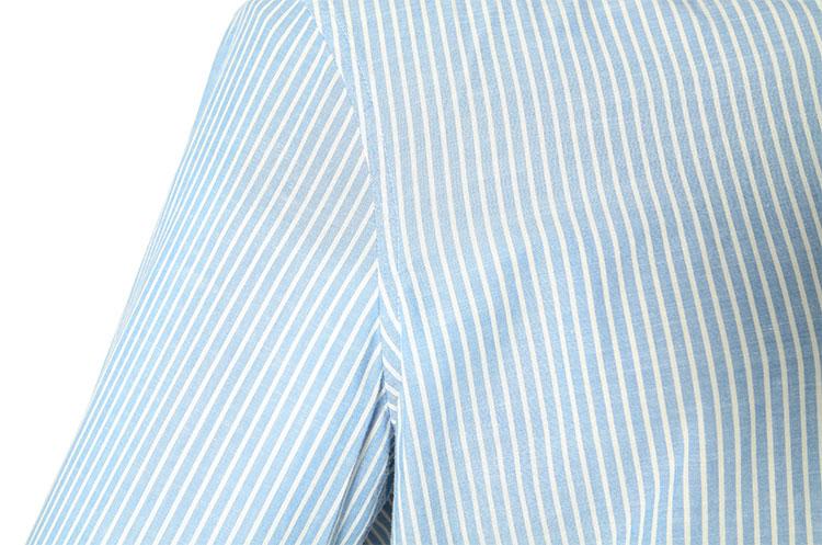 burberry(博柏利) 蓝底白条纹长袖衬衫s