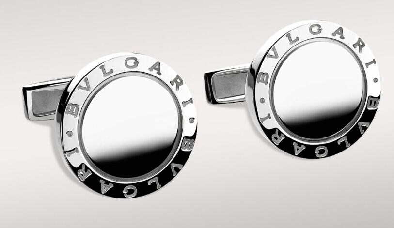 bvlgari(宝格丽) m 圆形纯银袖扣