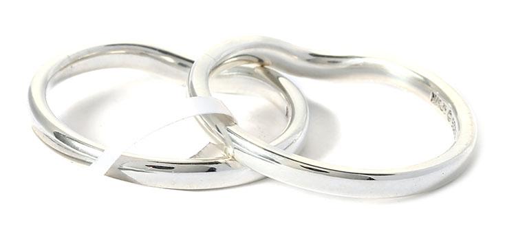 tiffany & co.(蒂芙尼) s925银双环重叠戒指52