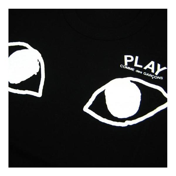 cdg play男士黑色纯棉短袖t恤 白眼睛款c001858 黑色 xl
