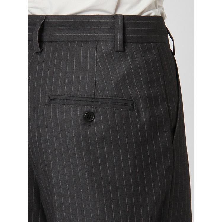 女士混纺竖条纹阔腿裤9999155115033